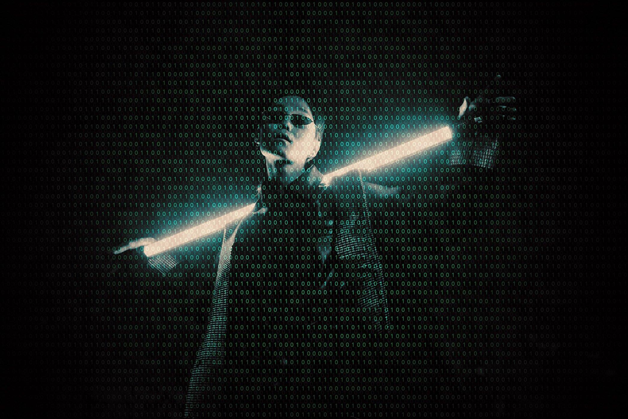 逼真黑客矩阵效果照片处理滤镜PS样式模板 Hacker Matrix Photo Effect插图2