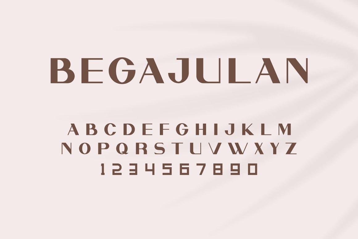 现代极简优雅品牌徽标Logo海报标题设计无衬线英文字体素材 Begajulan Font插图2