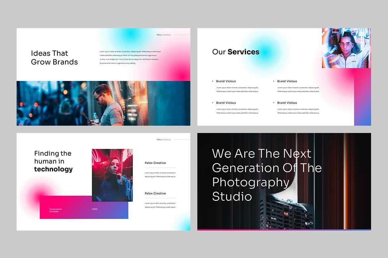 现代炫彩品牌营销策划提报幻灯片设计PPT+Keynote模板素材 PALOX – Creative Agency Powerpoint Template插图2
