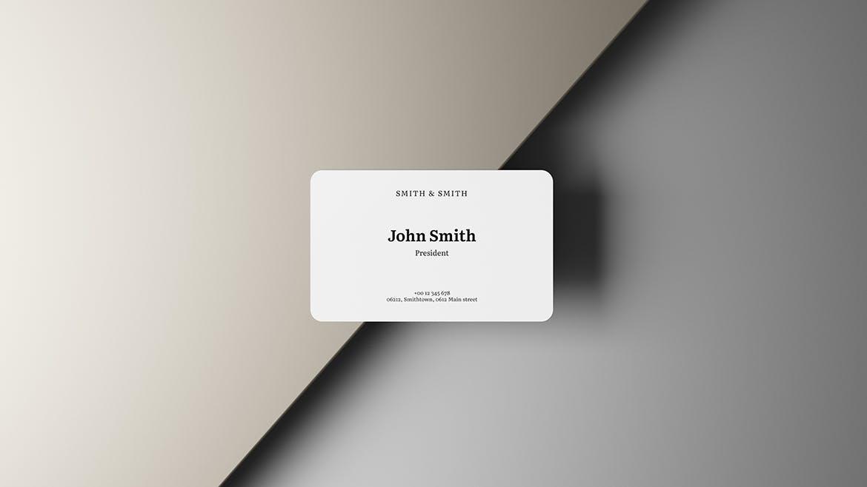 逼真商务名片卡片设计PSD样机模板素材 3.2×2 Business Card Mockup插图2