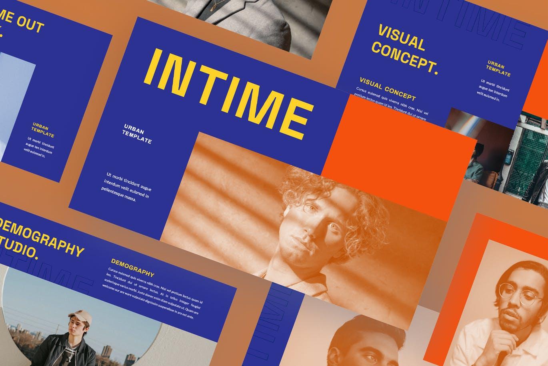 潮流撞色品牌策划提案简报演示文稿设计PPT+Keynote模板 Intime Powerpoint Template插图2