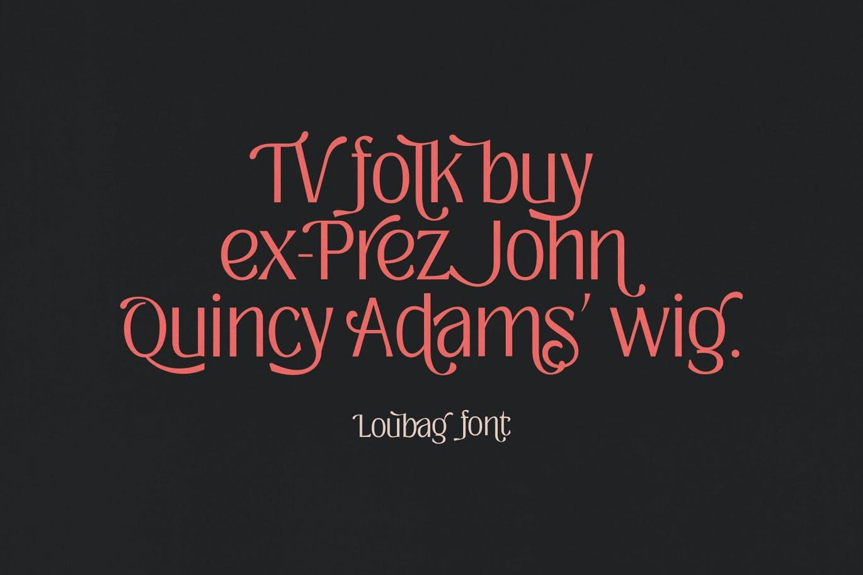现代时尚复古杂志海报标题徽标Logo无衬线英文字体素材 Loubag – Modern Retro Family插图2