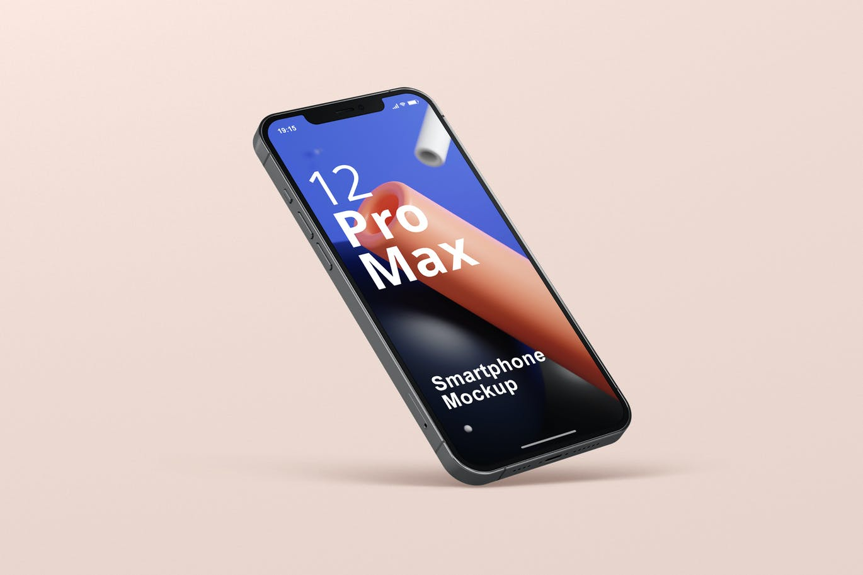 时尚APP界面设计iPhone 12 Pro Max手机屏幕演示样机 Phone 12 Pro Max Mockup插图2