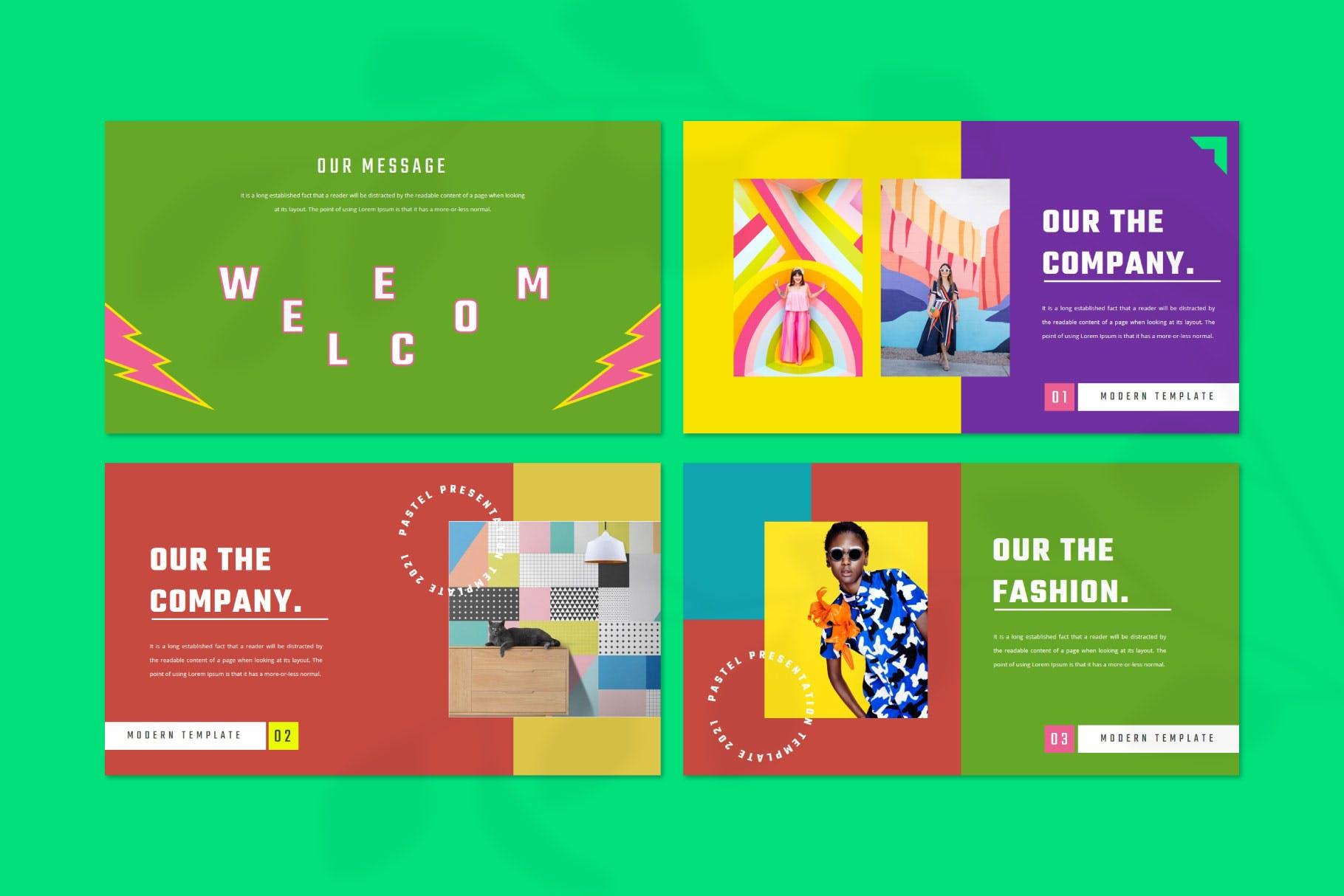 时尚炫彩服装策划提案简报作品集设计模版 WILBLOOD – Keynote Template插图2