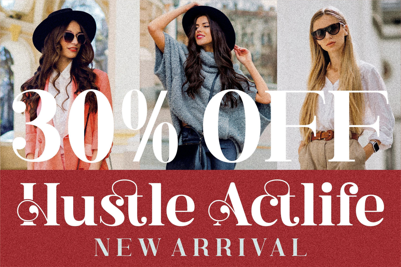 现代奢华品牌徽标Logo海报标题衬线英文字体下载 Hustle Actlife Font插图2