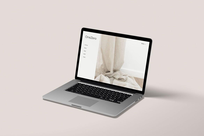 简约网站界面设计Macbook Pro笔记本电脑屏幕演示样机 Macbook Pro Mockup Vol 02插图2