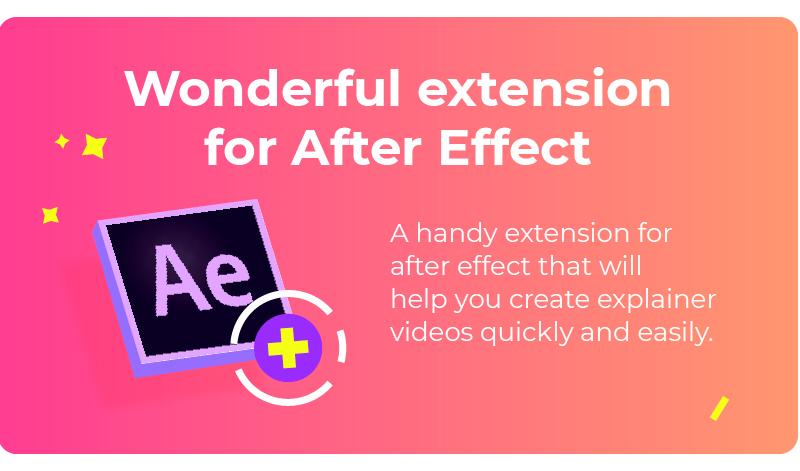 [单独购买] 扁平化卡通人物角色动作解说场景MG动画预设AE插件素材 The Best Explainer Video Toolkit插图3