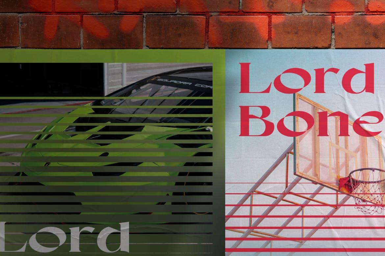 5款时尚潮流褶皱墙贴胶粘海报传单设计展示样机模板 Wall Poster Mockup插图1