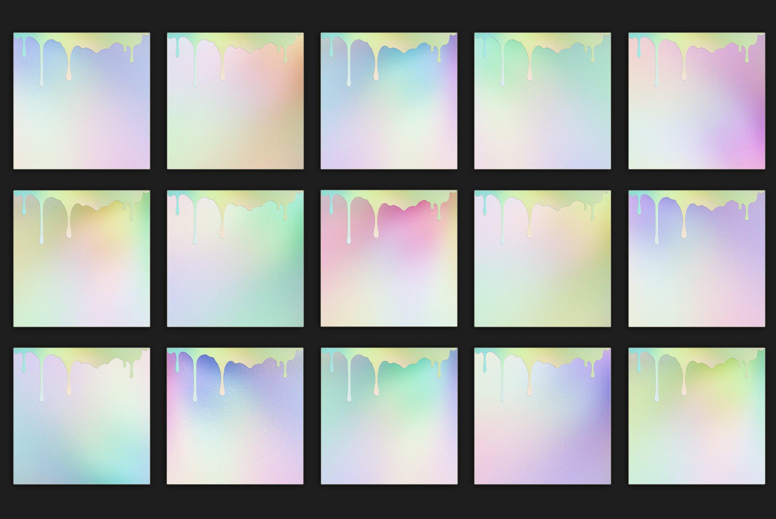 20款高清水滴虹彩海报设计背景纹理图片素材 Dripping Iridescent Textures插图2