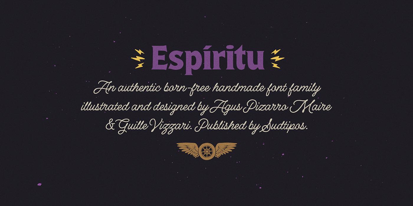时尚复古海报标题徽标Logo设计英文字体下载 Espiritu Font Family插图8