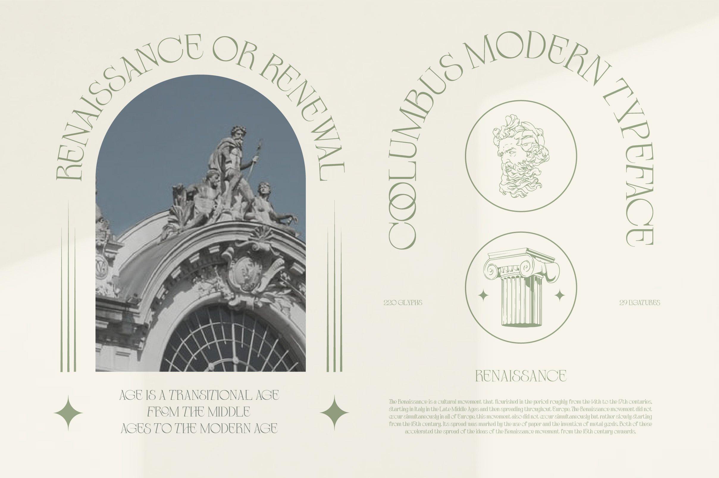优雅复古杂志海报标题徽标Logo设计衬线英文字体素材 Coolumbus Modern Serif Font插图3