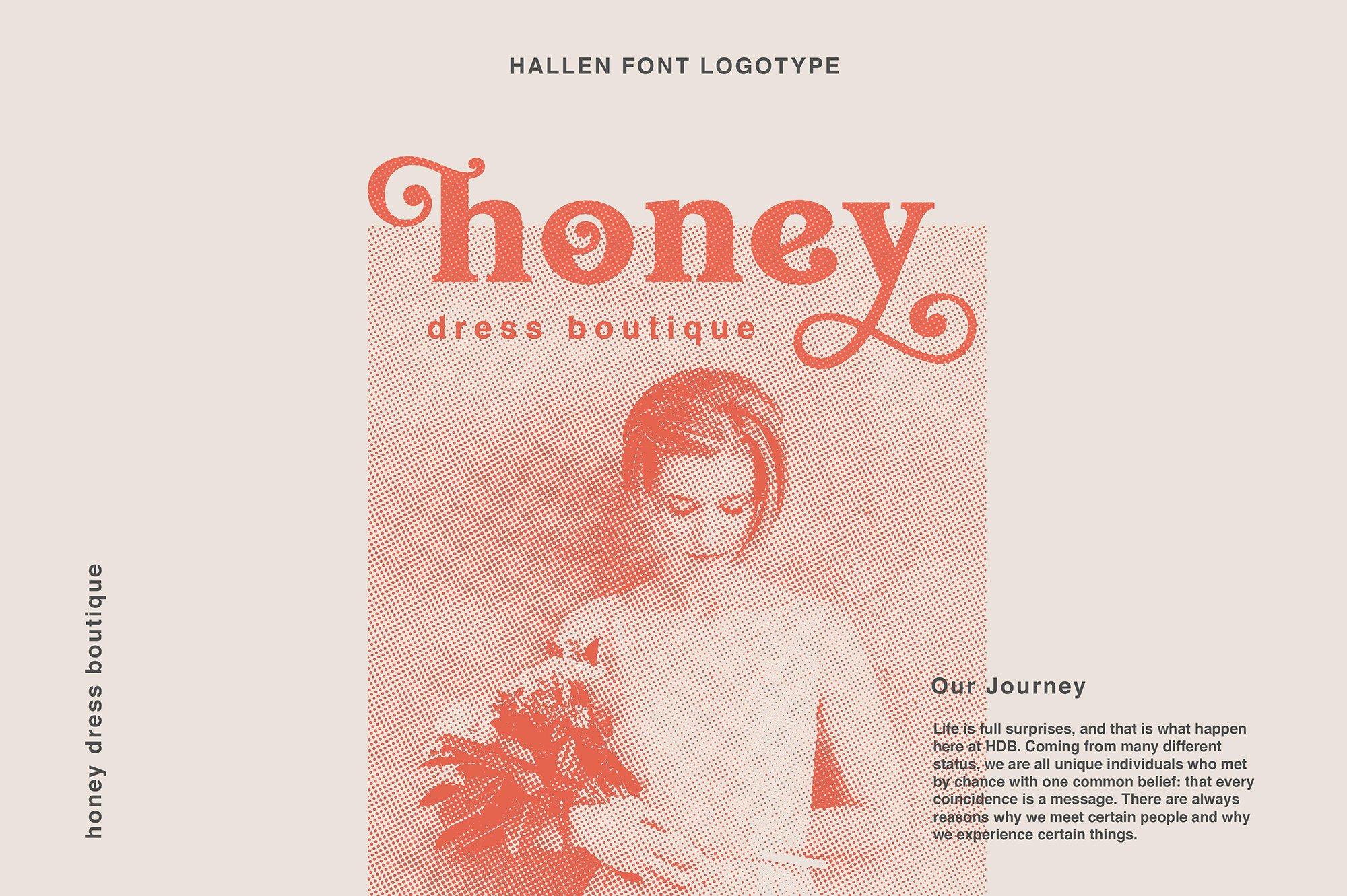 现代经典杂志海报标题Logo设计衬线英文字体下载 Hallen Font插图3