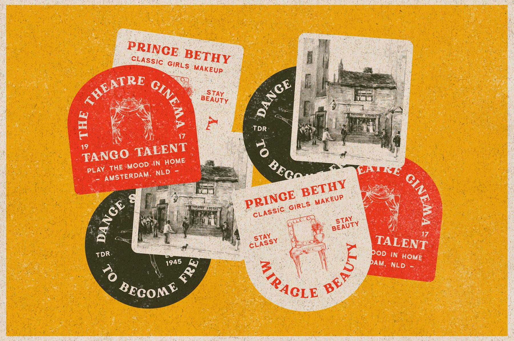 精美复古海报标题徽标Logo设计衬线英文字体素材 Rundeck – Vintage Texture Font插图8