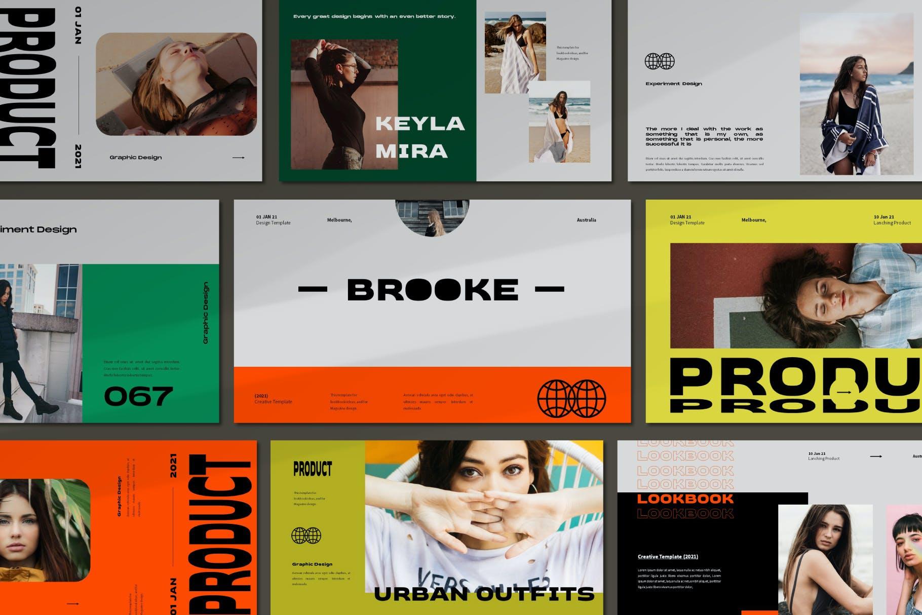 时尚潮流品牌策划案提案简报设计演示文稿模板 Brooke Powerpoint Template插图3