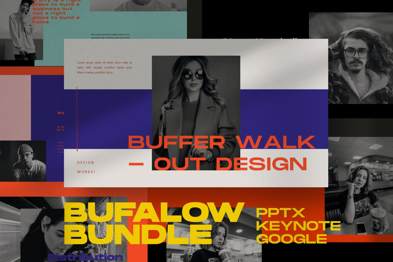 时尚摄影作品集幻灯片设计PPT模板素材 Bufalow Powerpoint Template插图3
