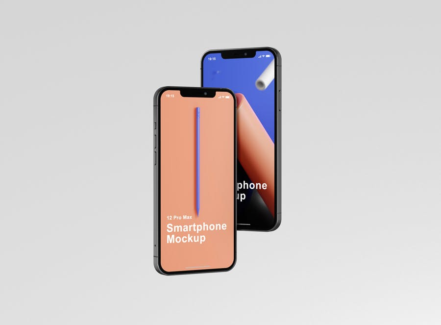 时尚APP界面设计iPhone 12 Pro Max手机屏幕演示样机 Phone 12 Pro Max Mockup插图3