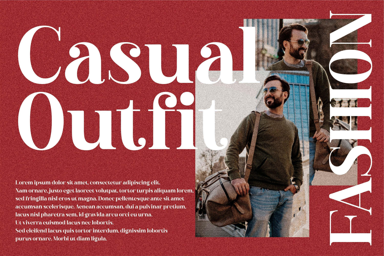 现代奢华品牌徽标Logo海报标题衬线英文字体下载 Hustle Actlife Font插图3