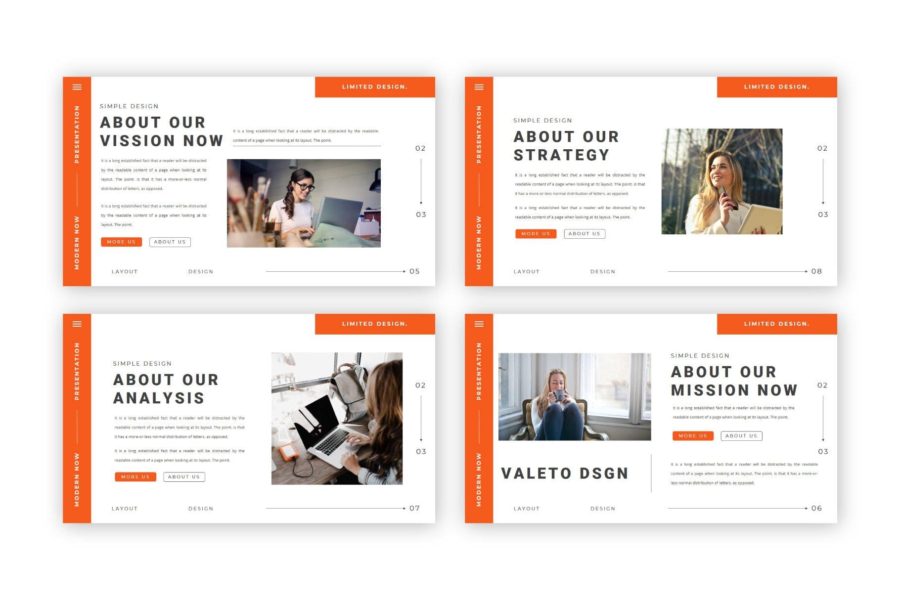极简主义企业营销策划演示文稿设计模板 Valeto Powerpoint Template插图3