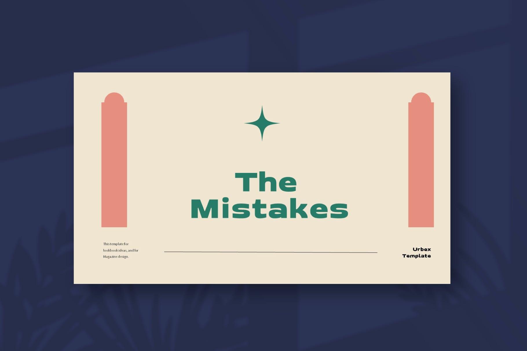 优雅品牌策划提案简报演示文稿设计PPT模版 Mistakes Powerpoint Template插图3