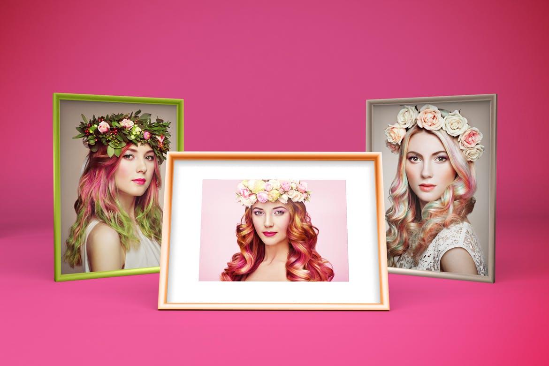 多角度艺术品相片展示相框样机模板 Frame Mockup插图3