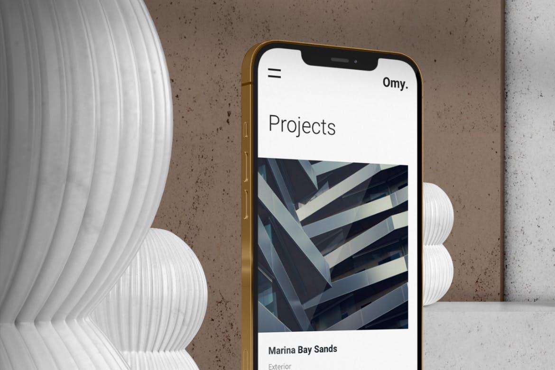 质感APP界面设计iPhone 12 Pro手机屏幕演示样机 Digital Scene Mockup Fully Customizable插图3