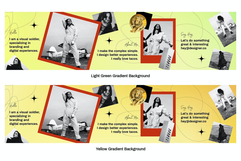 潮流复古INS风新媒体推广电商海报设计模板 Seamless Instagram Carousel插图3