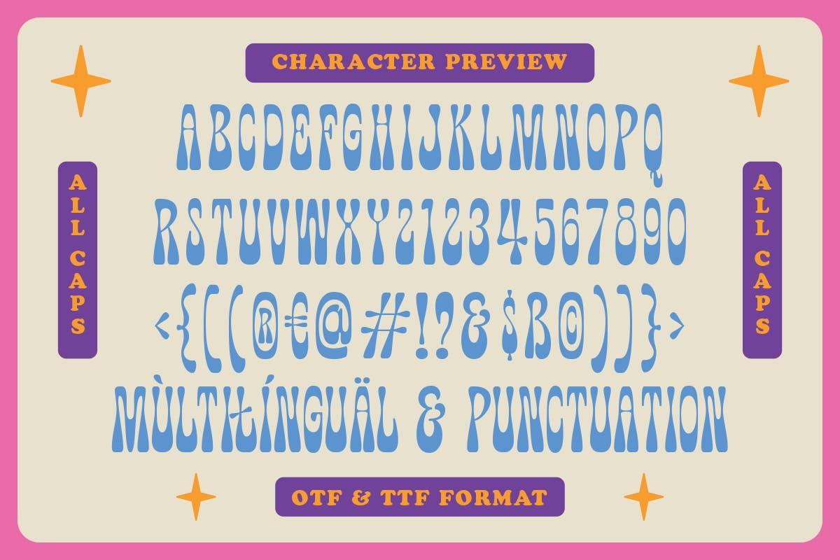 有趣卡通海报品牌包装标题Logo粗体英文字体素材 Fuente Wonkids Bold & Chunky插图3