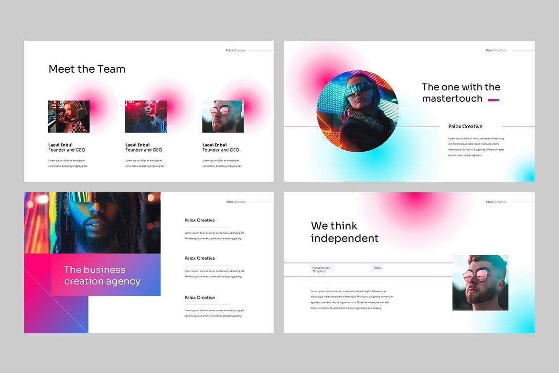 现代炫彩品牌营销策划提报幻灯片设计PPT+Keynote模板素材 PALOX – Creative Agency Powerpoint Template插图3