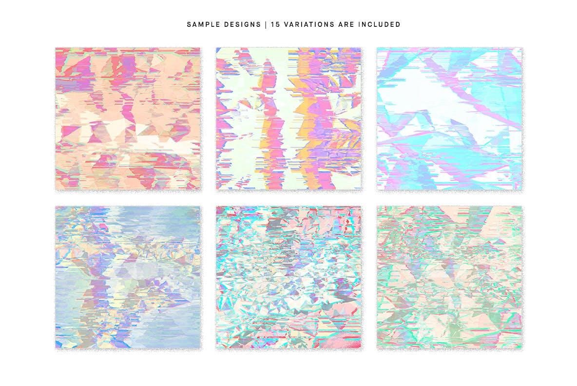 15款抽象故障失真纹理海报设计背景图片素材 Pastel Noise插图1