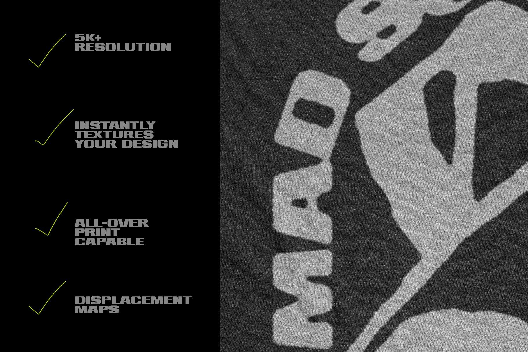 做旧复古长袖T恤印花图案设计PS贴图样机模板 Vintage Long Sleeve T-Shirt Mockup插图3