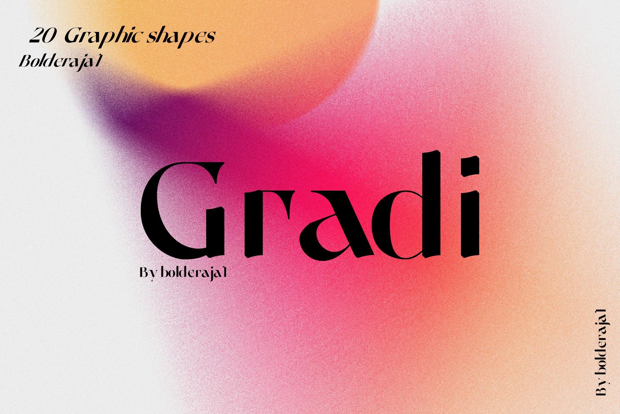 [单独购买] 潮流复古炫彩颗粒噪点模糊渐变背景纹理图形设计素材 Gradient Color Grainy Textures插图4