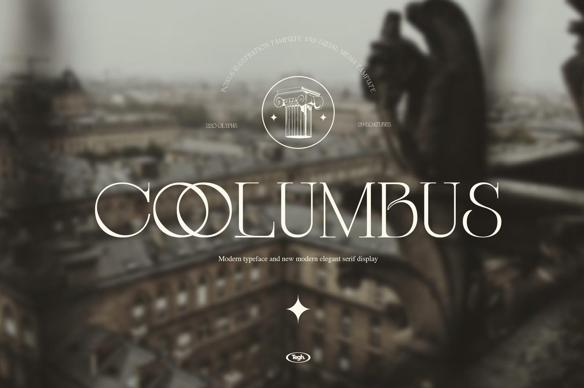 优雅复古杂志海报标题徽标Logo设计衬线英文字体素材 Coolumbus Modern Serif Font插图4