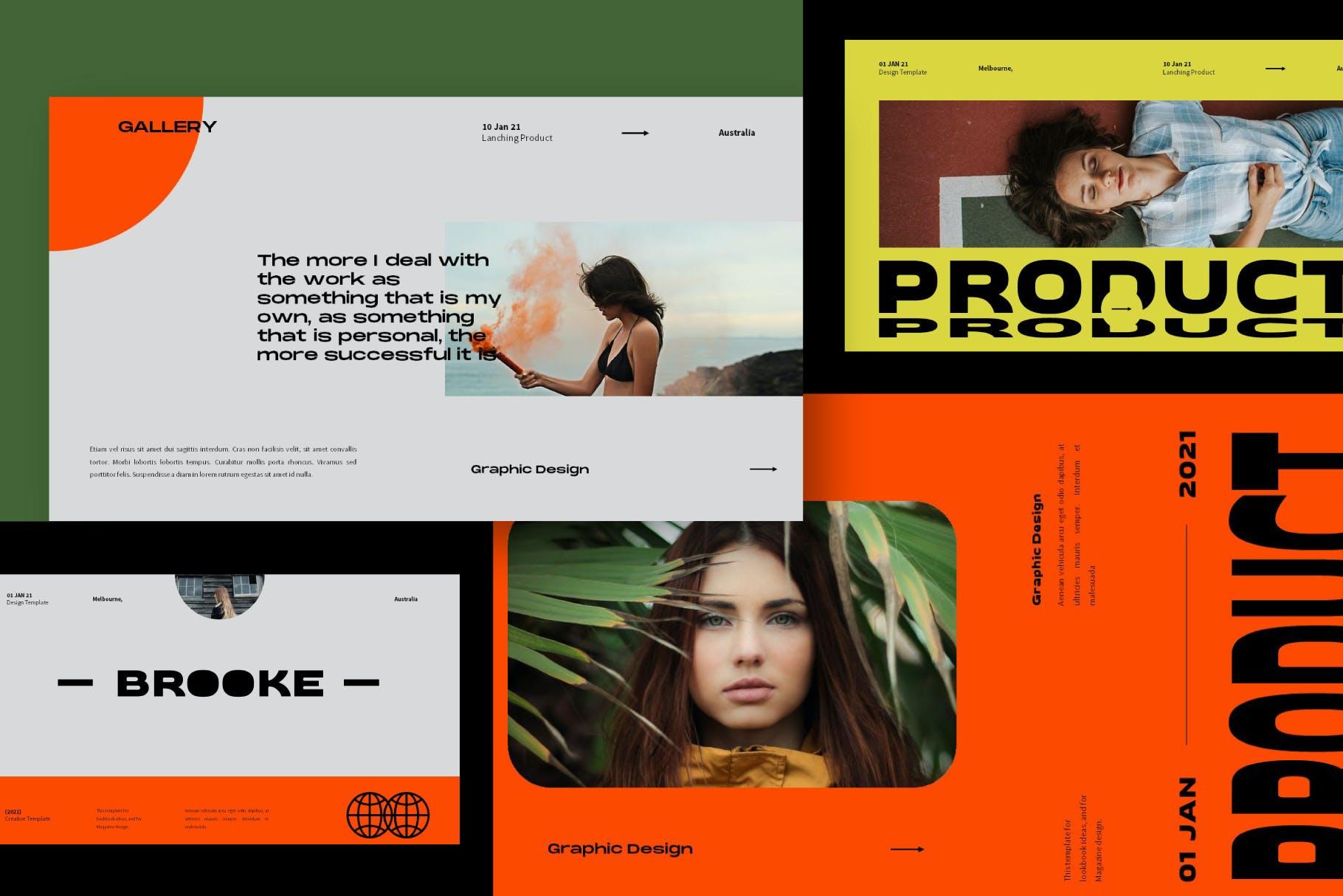时尚潮流品牌策划案提案简报设计演示文稿模板 Brooke Powerpoint Template插图4