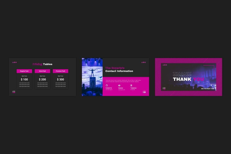 创意霓虹灯效果商业策划演示文稿设计Keynote模板 Experta – Creative Business Keynote Template插图4