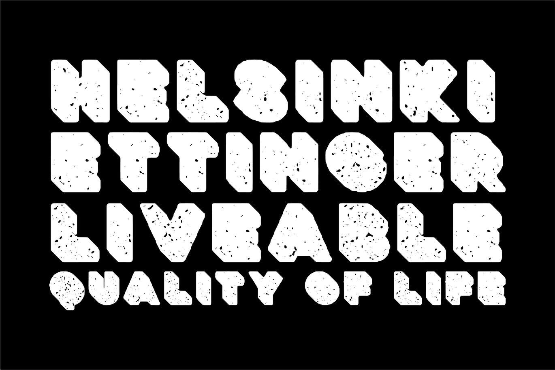 粗壮标题Logo设计无衬线英文字体下载 Deep Block – Distressed Display Font插图3