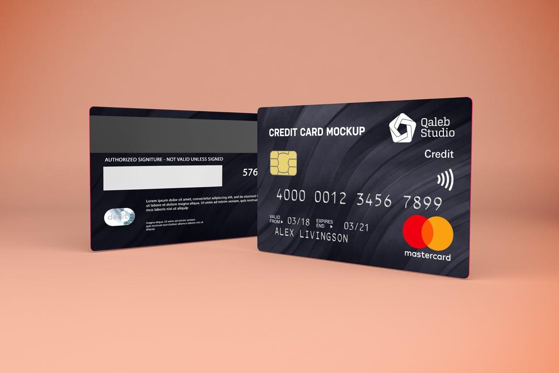 5款逼真银行信用卡卡片设计展示贴图样机素材 Credit Card V.1插图4