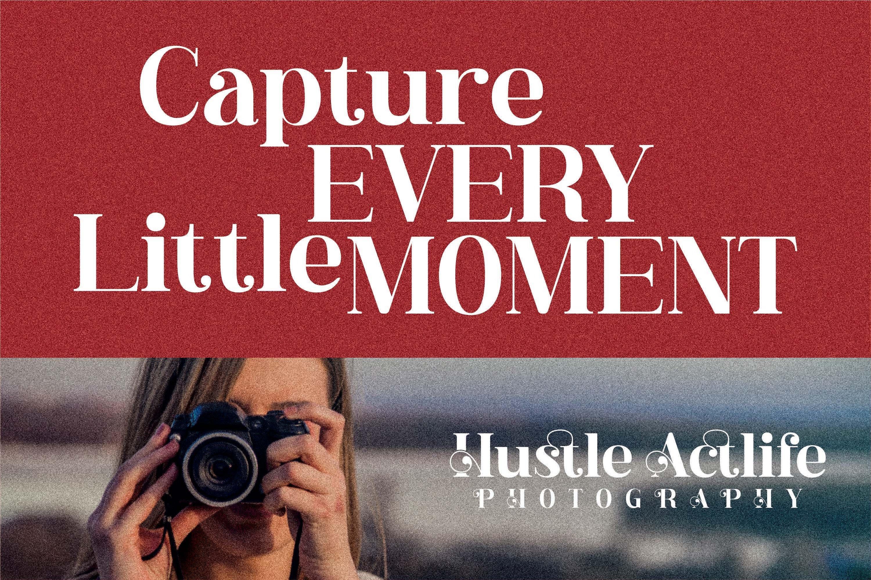 现代奢华品牌徽标Logo海报标题衬线英文字体下载 Hustle Actlife Font插图4