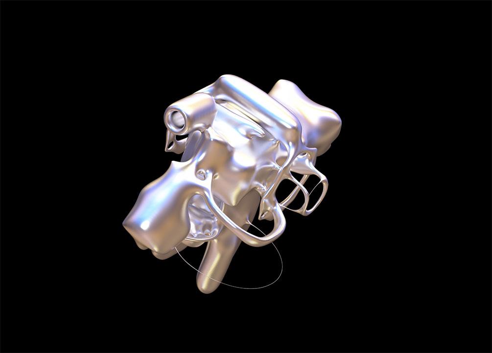 [单独购买] 50款潮流抽象金属镀铬有机形状PNG免扣图片设计素材 Edgargfx – Organic Chrome 3D插图3