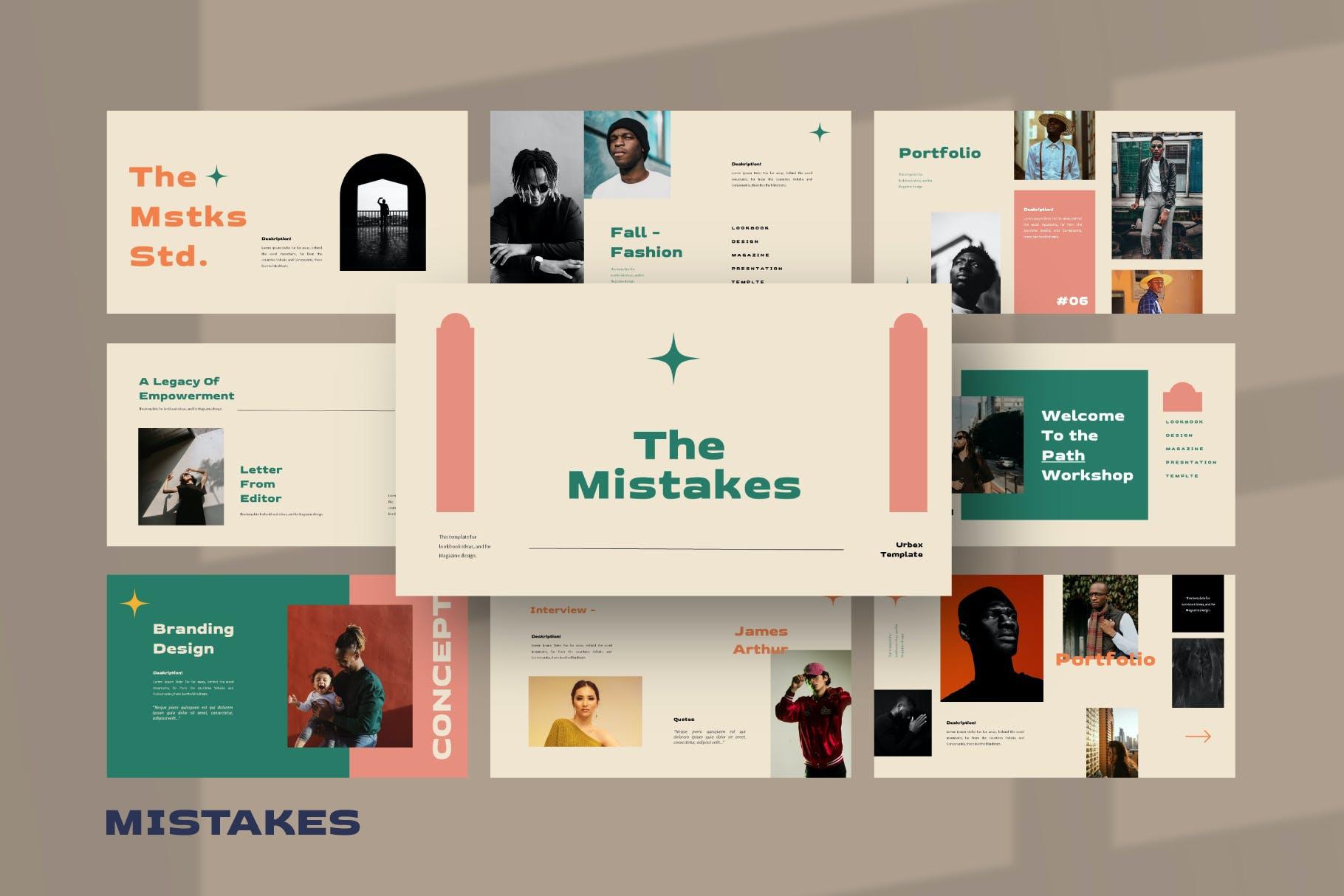 优雅品牌策划提案简报演示文稿设计PPT模版 Mistakes Powerpoint Template插图4