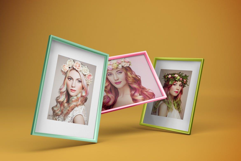 多角度艺术品相片展示相框样机模板 Frame Mockup插图4