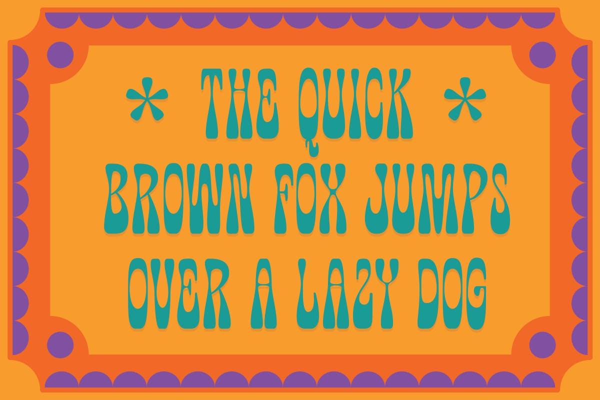 有趣卡通海报品牌包装标题Logo粗体英文字体素材 Fuente Wonkids Bold & Chunky插图4