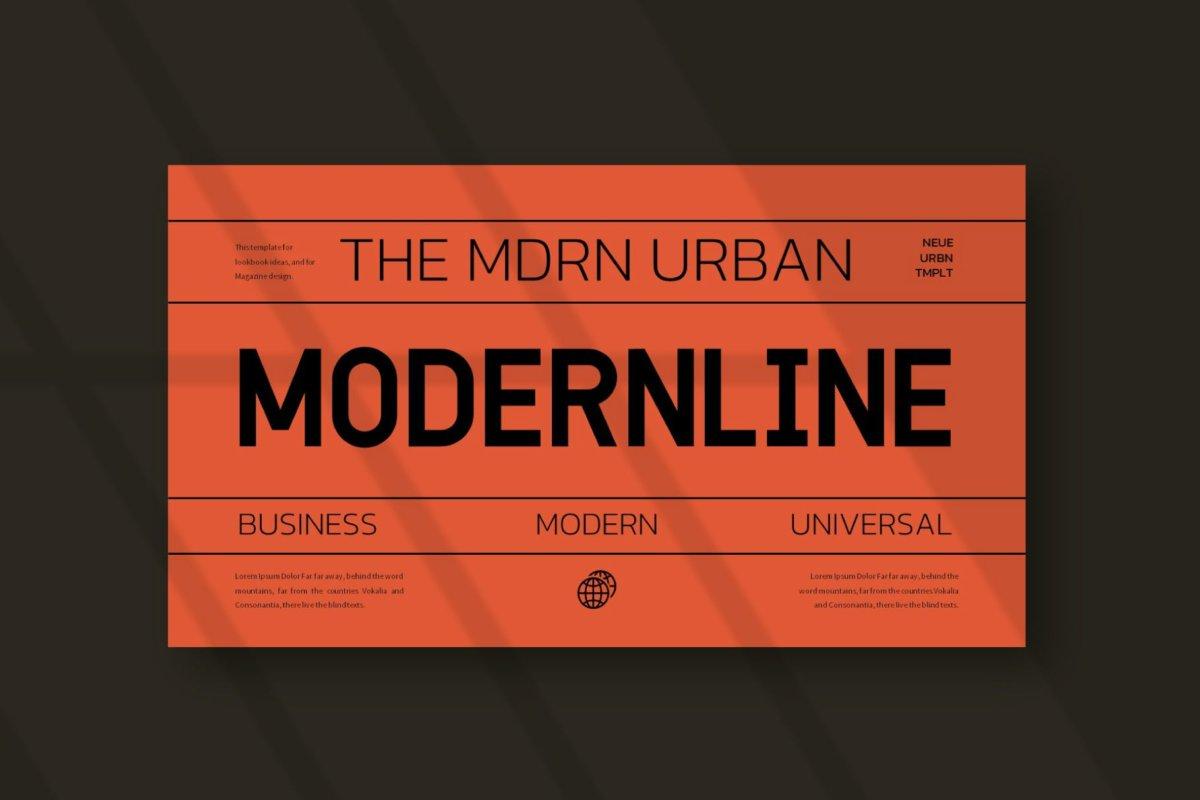 时尚潮流服装摄影作品集演示文稿设计PPT模板 Modern Line Powerpoint Template插图4