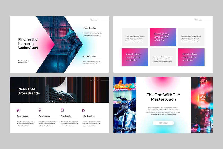 现代炫彩品牌营销策划提报幻灯片设计PPT+Keynote模板素材 PALOX – Creative Agency Powerpoint Template插图4