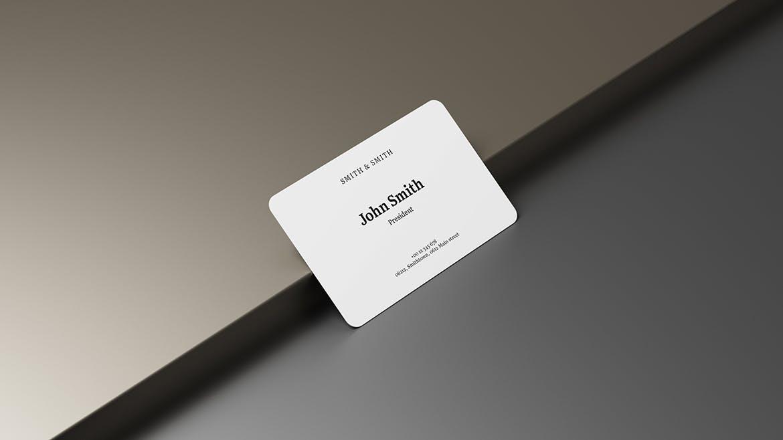 逼真商务名片卡片设计PSD样机模板素材 3.2×2 Business Card Mockup插图4