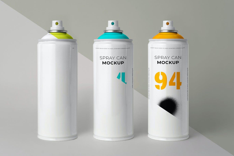 简约喷雾瓶外观设计样机模板 Aerosol Can Mockup插图5