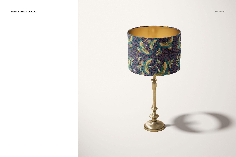 时尚高端室内鼓形灯罩灯设计展示样机集 Drum Lamp Shade Lamps Mockup Set插图4