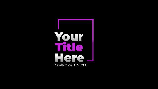 100个现代标题徽标Logo文本动画演示MP4视频模板素材 BusyBoxx – V05 Modern Titles插图46
