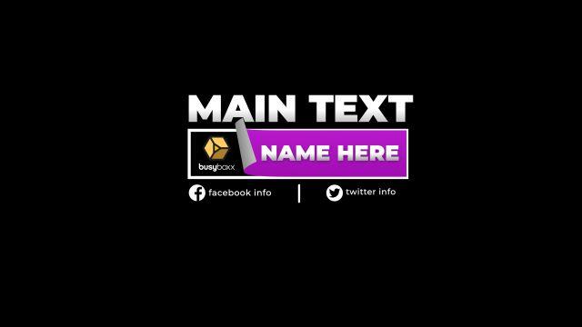 100个现代标题徽标Logo文本动画演示MP4视频模板素材 BusyBoxx – V05 Modern Titles插图51