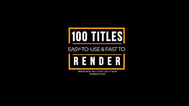 100个现代标题徽标Logo文本动画演示MP4视频模板素材 BusyBoxx – V05 Modern Titles插图52