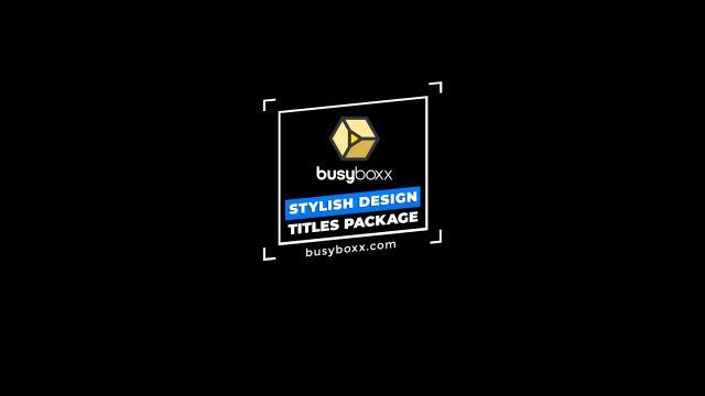 100个现代标题徽标Logo文本动画演示MP4视频模板素材 BusyBoxx – V05 Modern Titles插图59
